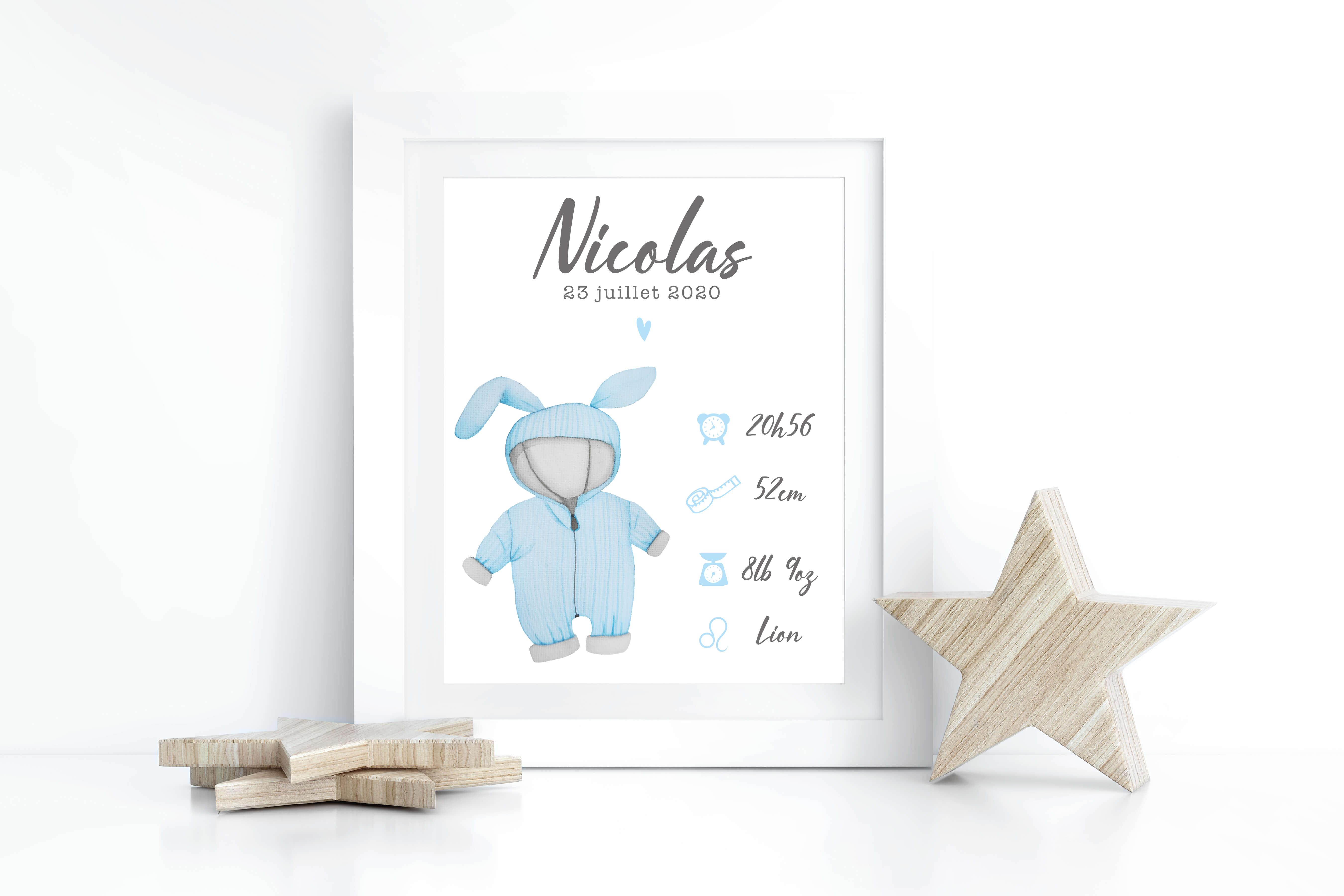Affiche Naissance Nicolas 1